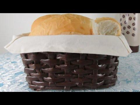 DIY - Bread basket of newspaper tubes!!