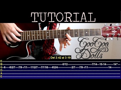 Cómo tocar Iris de Goo goo dolls (Tutorial de guitarra) / How to play