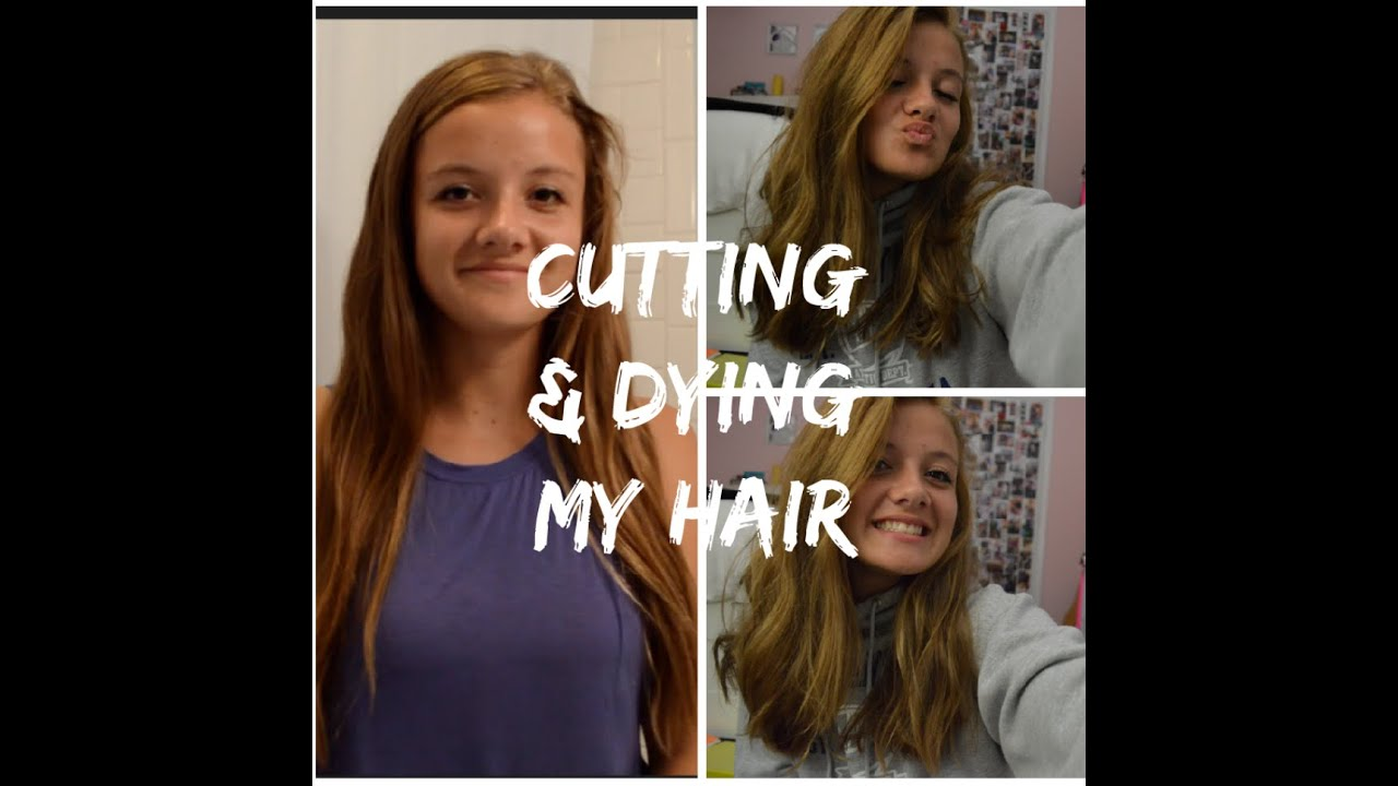 CUTTING AND DYING MY OWN HAIR!? - YouTube