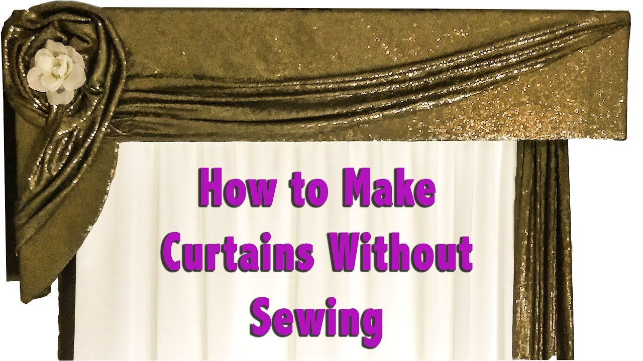 How to make curtains without sewing youtube How to make a valance without sewing
