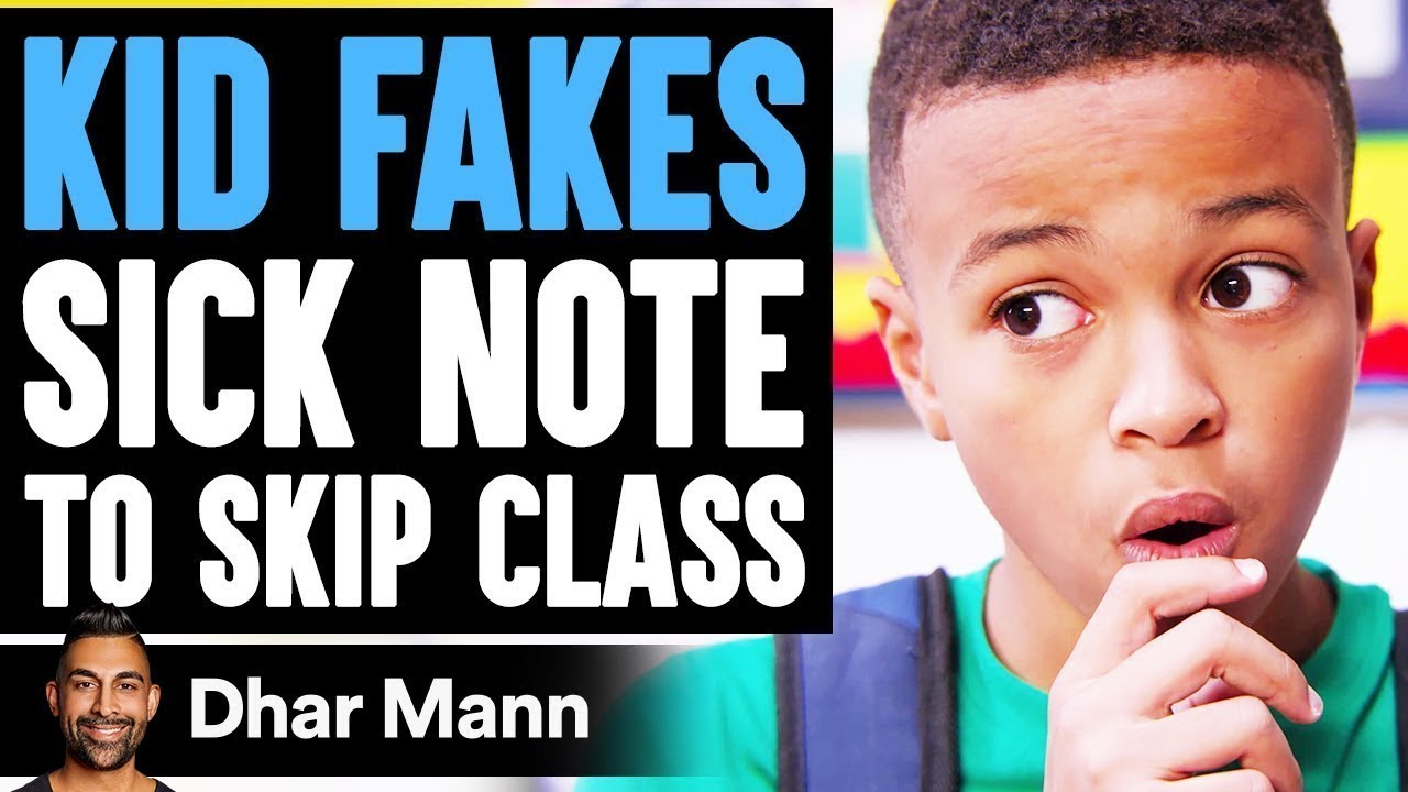Download Kid FAKES SICK NOTE to Skip Class, He Instantly Regrets It | Dhar Mann