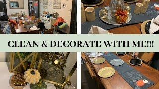 CLEAN WITH ME DINING ROOM & FALL DECORATE WITH ME // SHYVONNE MELANIE TV