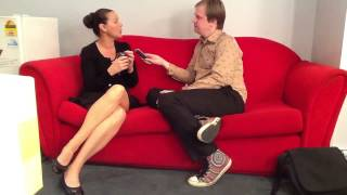 Julia Morris on the couch