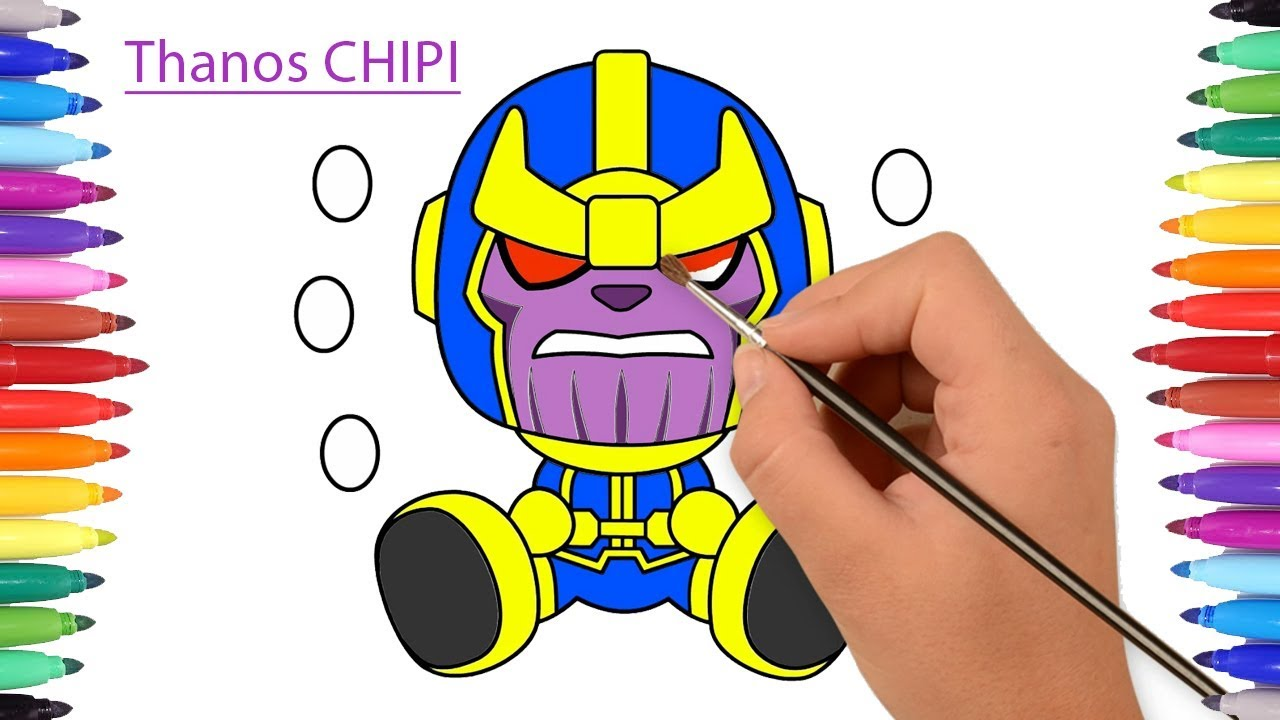 How To Draw Thanos Avengers Infinity War Thanos Chibi 2018