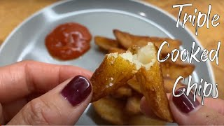 Easy triple cooked chips