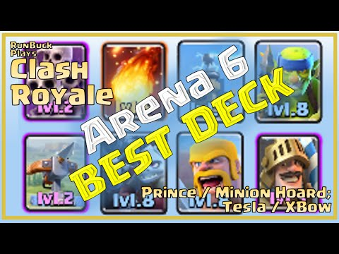 Clash royale best deck arena 6 prince dps xbow for Clash royale deck arc x