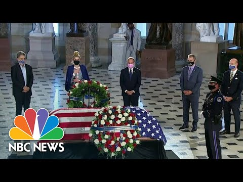 Justice Ginsburg Becomes First Woman, First Jewish Person To Lie In State At U.S. Capitol | NBC News