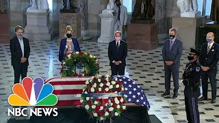 Justice Ginsburg Becomes First Woman, First Jewish Person To Lie In State At U.S. Capitol   NBC News