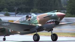 FAST & FURIOUS FLYING TIGER P- 40 LOW PASS with GREAT SOUND!