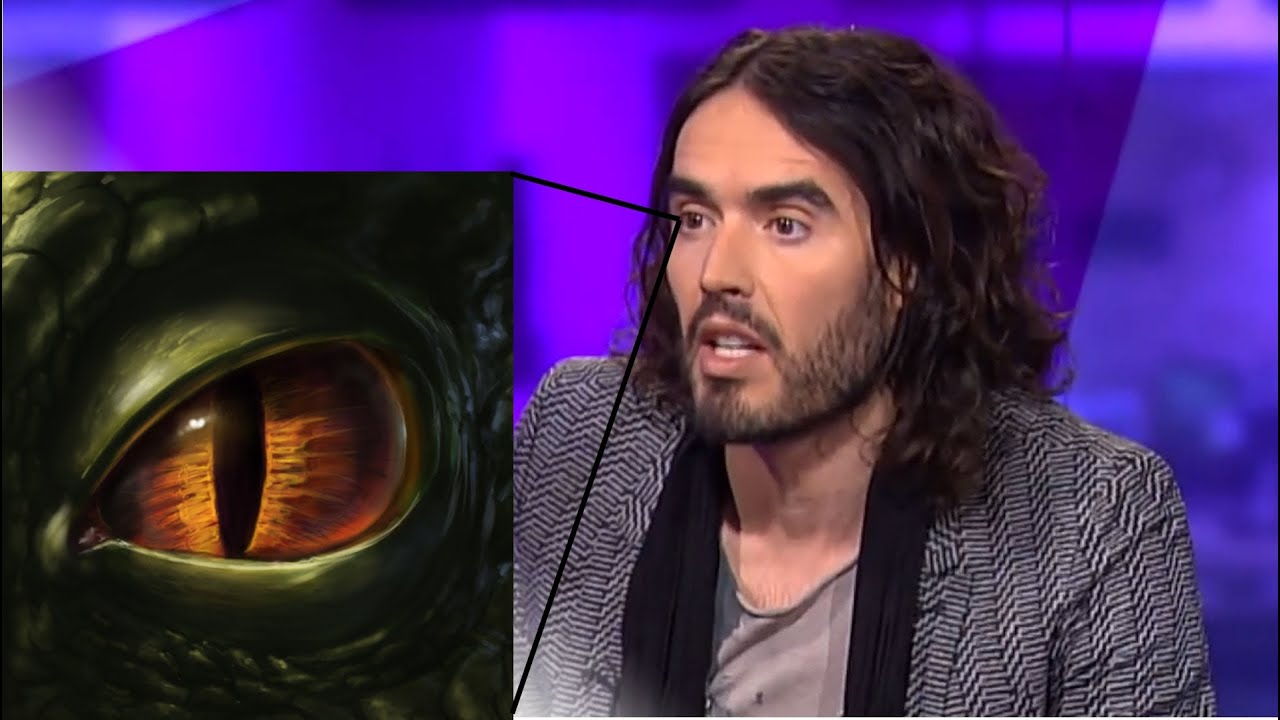 Russell Brand's Reptilian Shapeshifting Eyes (Again) on British TV
