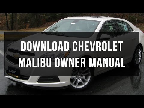 Download Chevrolet Malibu owner manual free