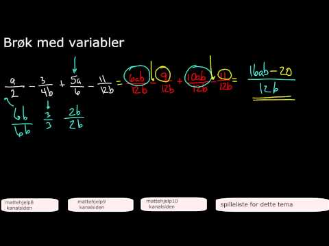 Brøk med variabler