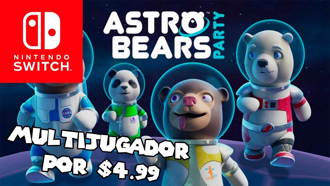 Juego Multijugador Por 4 99 Astrobears Party Para Nintendo Switch