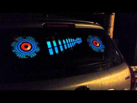 Видео с эквалайзерами на машине мой