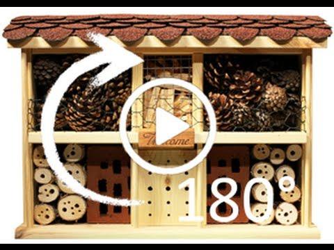 video insektenhotel landhaus komfort 180 rundumsicht. Black Bedroom Furniture Sets. Home Design Ideas