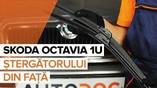 Cum se inlocuiesc lamele ștergătoarelor din față pe SKODA OCTAVIA 1U Tutorial | Autodoc