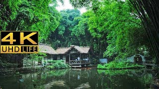 Dufu's Thatched Cottage in Chengdu, China in 4K (Ultra HD)