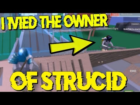 I 1V1ED THE OWNER OF STRUCID... (Roblox Fortnite)