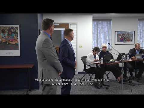 Hudson School Board August 14, 2017