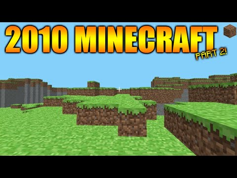 Minecraft Gameplay From 2009 2010 The First Ever Terrain