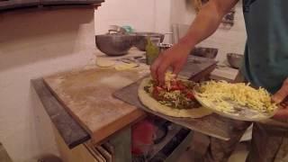 Любительская пицца в Русской печи