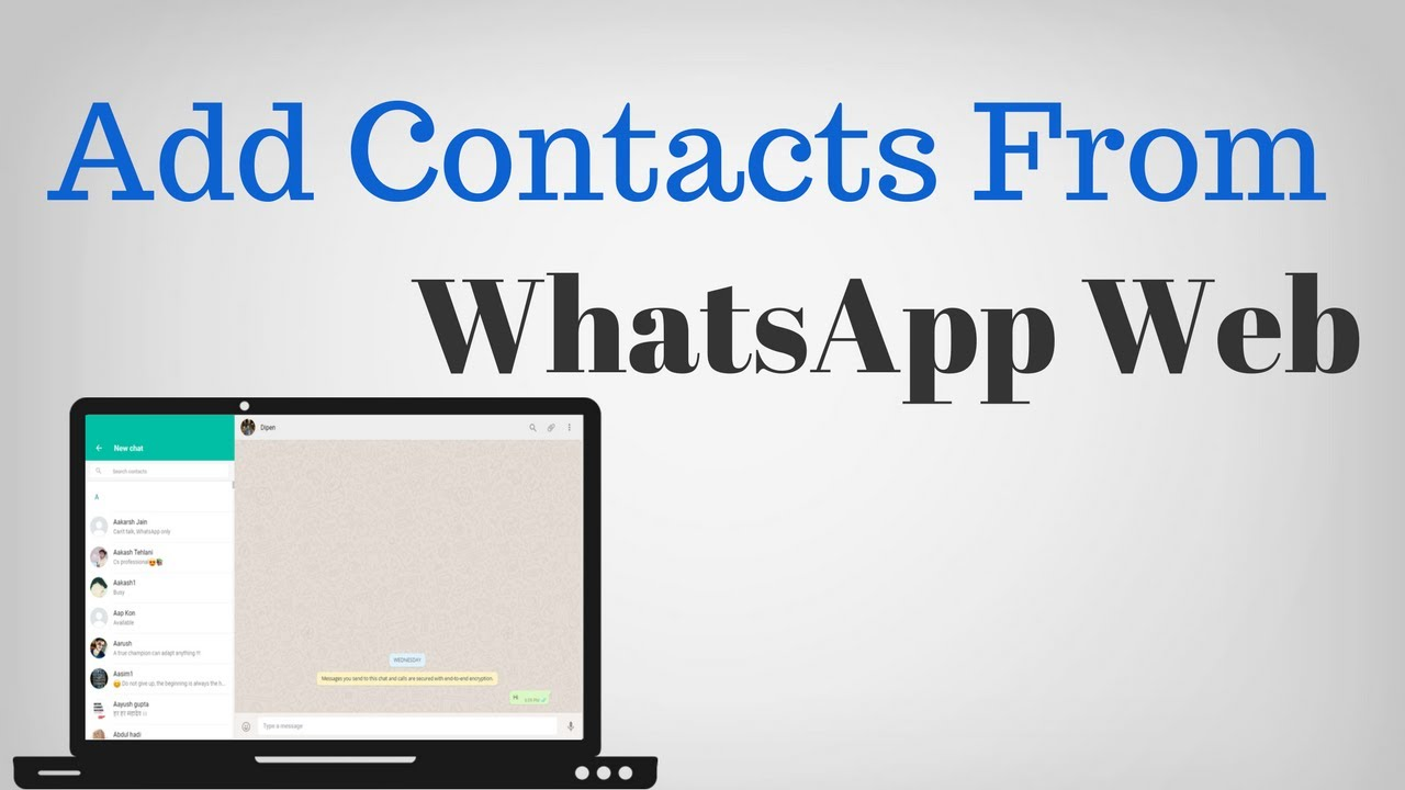 How to add contacts to WhatsApp from PC