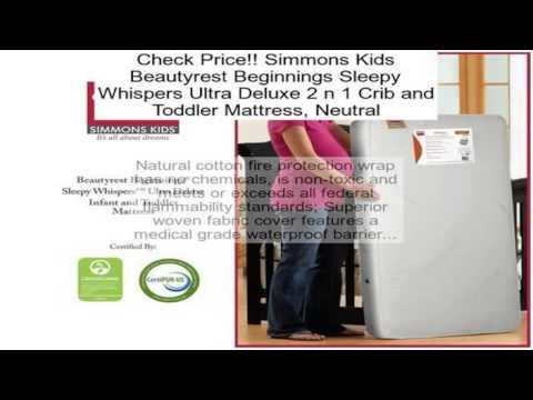 Simmons Kids Beautyrest Beginnings Sleepy Whispers Ultra Deluxe 2 N 1 Crib And To