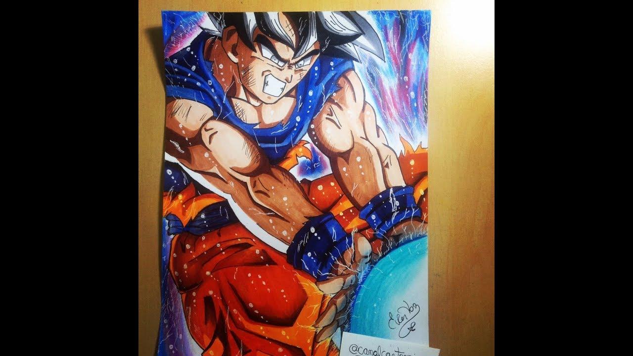 Dibujos Para Colorear De Goku Ultra Instinto: Goku Ultra Instinct Super Sayajin- Migatte