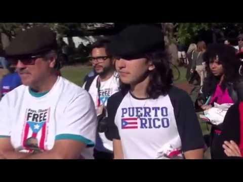 Alcaldesa  Carmen Yulin Cruz Y Danny Rivera por  Oscar Lopez Rivera video por Jose Rivera 10/9/16
