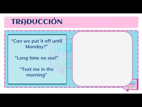 APRENDE ESPAÑOL traduciendo: Learn Spanish with translations    María Español