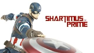 SH Figuarts Captain America Avengers Age of Ultron Movie Bandai Tamashii Nations Figure Review