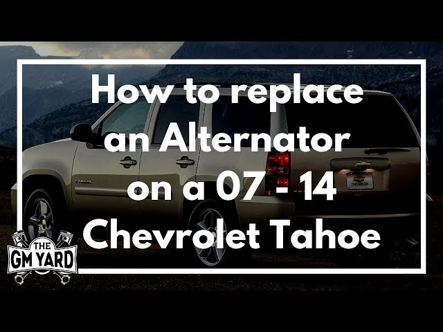 How To Replace An Alternator On A 2007 2017 Chevrolet Tahoe Egm You