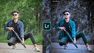 Blue and black tone lightroom photo editing tutorial in mobile ||preset download free ||