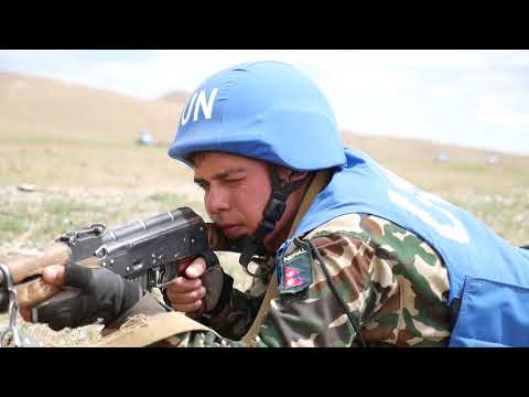 DFN:Nepalese peacekeepers conduct convoy operations, FIVE HILLS TRAINING AREA, MONGOLIA, 06.20.2018