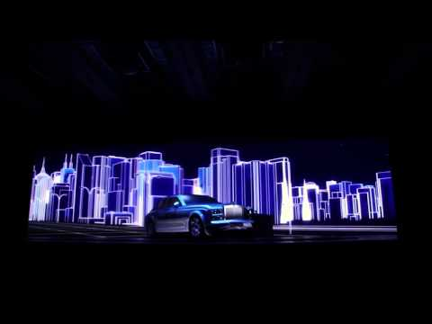 Projection Mapping On Rolls-Royce During The Launch In Mumbai (India).