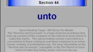LDS D&C 44 - Doctrine and Covenants Section 44 - www.publishpeace.org