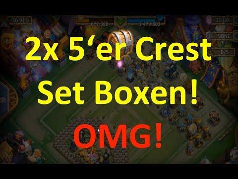 2x 5er Crest Set öffnen - Level 5 Fine Crest Sets! Castle Clash | Schloss Konflikt [Deutsch]