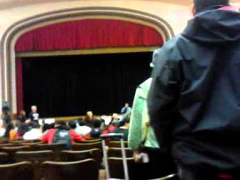 The boss telling em straight - Dewitt Clinton High School