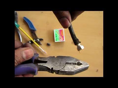 TV cable connector pin केबल पिन को जोड़ें आसानी से