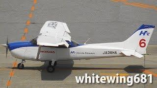 [C172 Touch and  Go] 本田航空 Honda Airways Cessna 172S JA32HA LANDING TOYAMA Airport 富山空港 2017.6.9