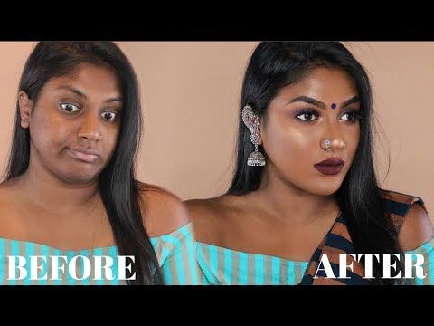 INDIAN / TAMIL GRWM :  RECEPTION GUEST GLAM MAKEUP | limitlessbwl