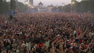 Paris Fan Zone goes wild as France win