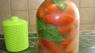 Домашние хлопоты.Бочковые помидоры в банке, простой и быстрый рецепт .