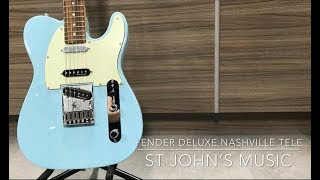 Fender Deluxe Nashville Tele soundcheck