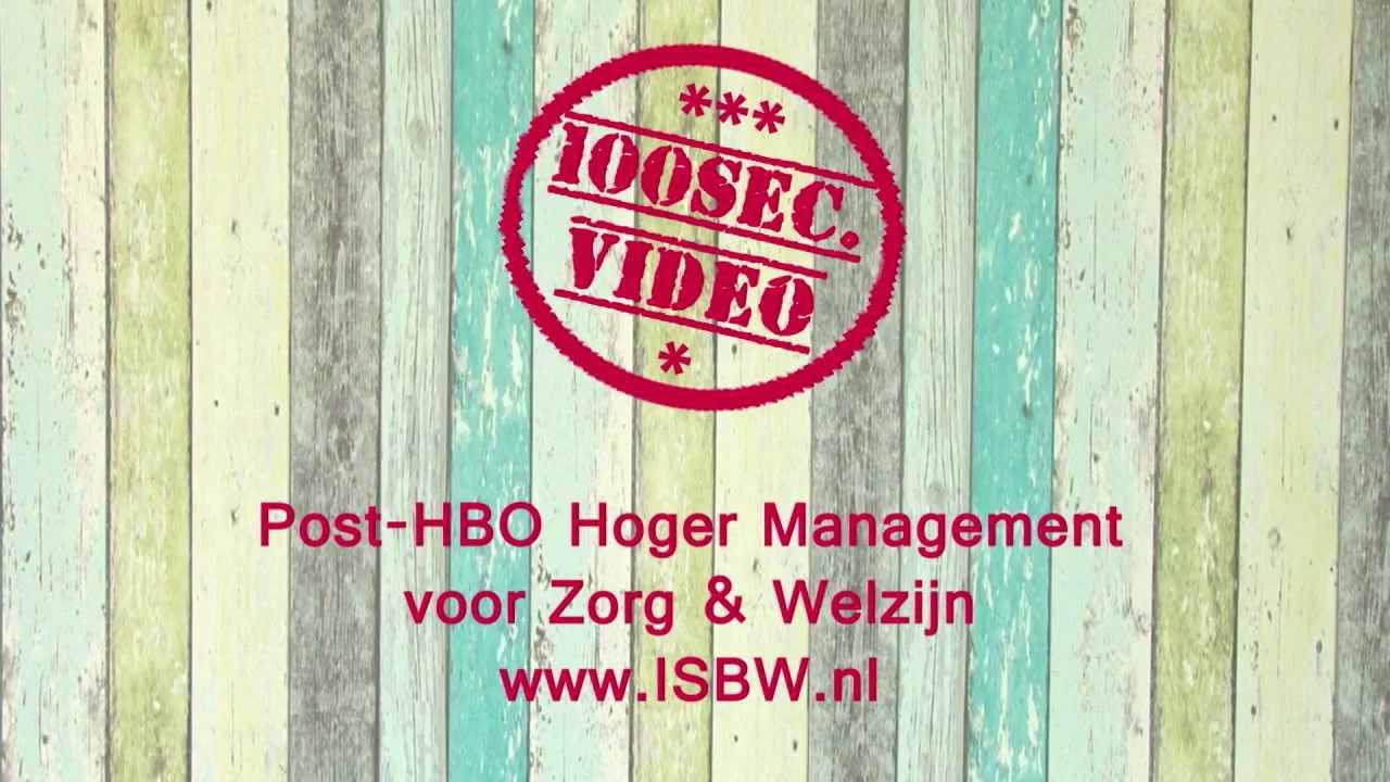 Isbw opleidingen post hbo hoger management zorg en for Interieur opleidingen hbo