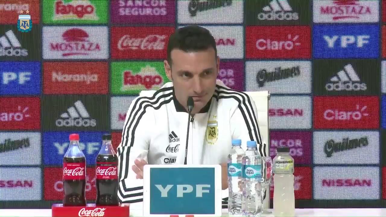 """Scaloni: """"Hablé con Messi y a partir de esa charla es que no está convocado"""""""