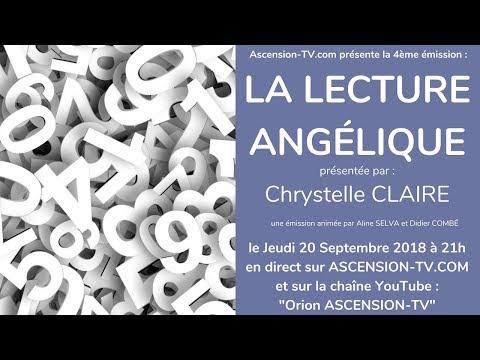 """[BANDE-ANNONCE] 4ème émission : """"La Lecture Angélique"""" avec Chrystelle CLAIRE le 20/09/2018 à 21h"""