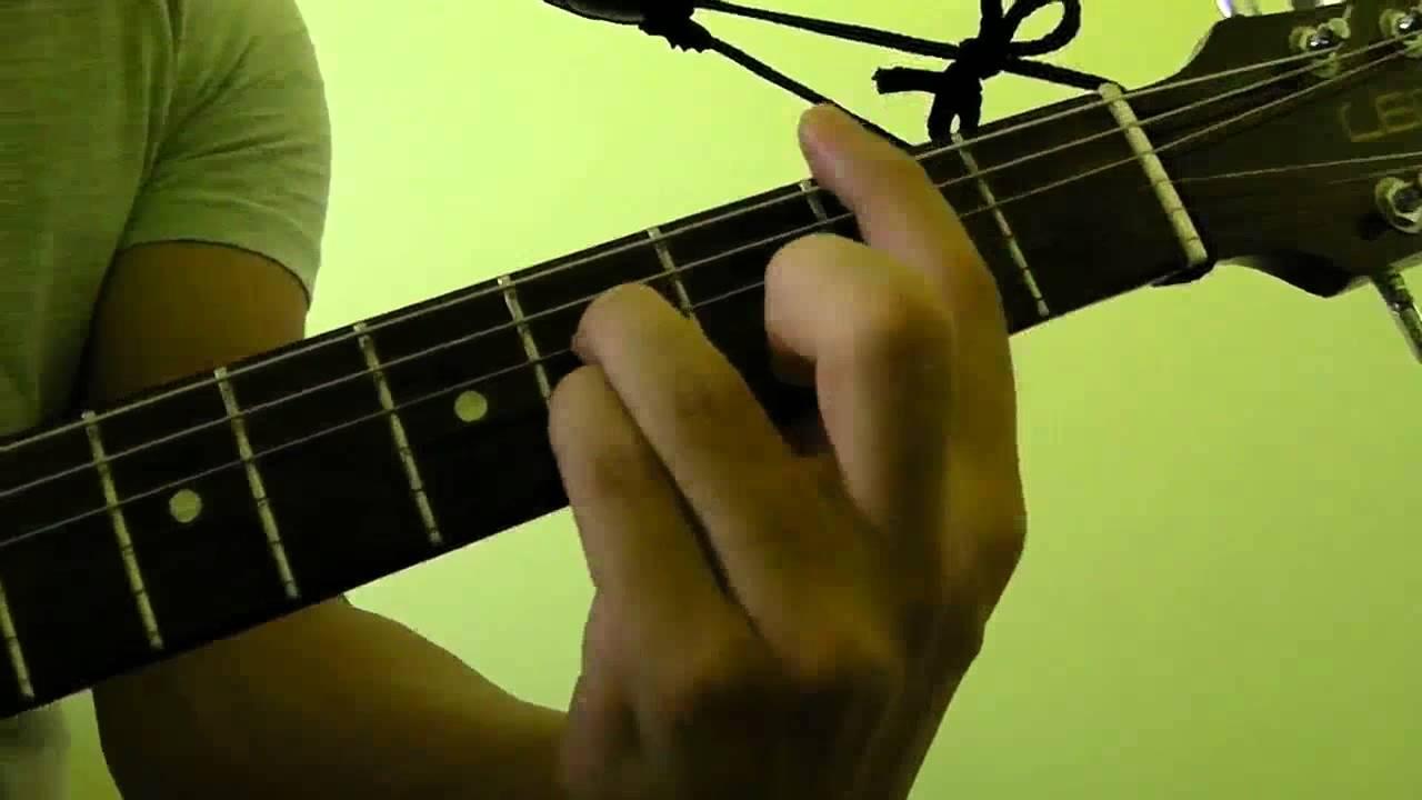 How To Play B7 Guitar Bar Chord Youtube