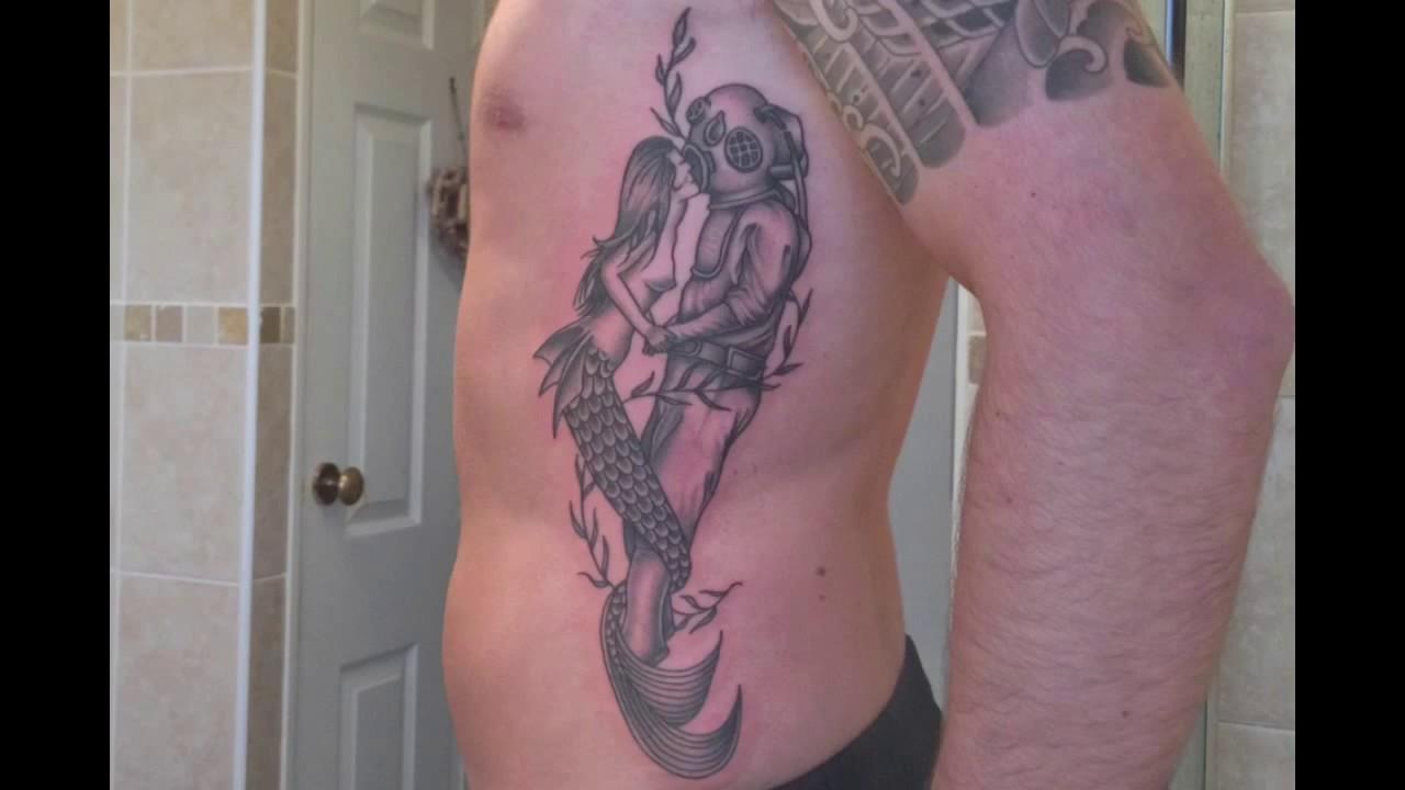 Amazing Mermaid Rib Tattoo Richard Barclay