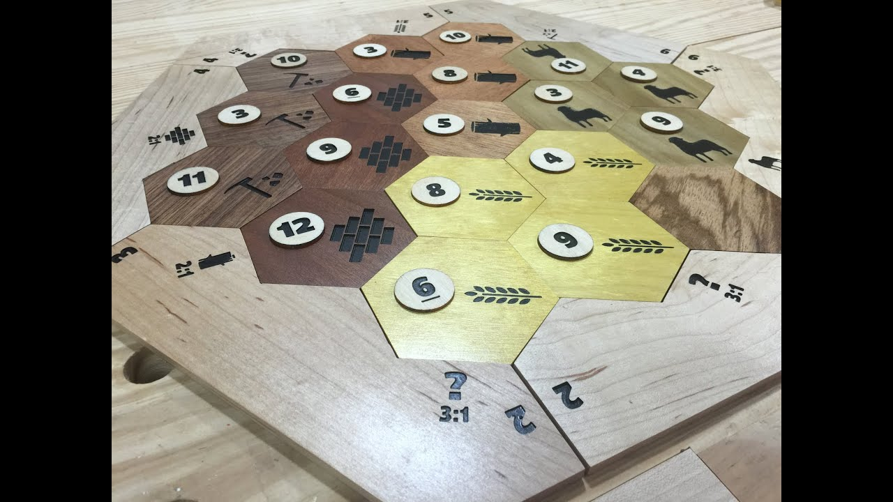 Custom Settlers Of Catan Hex Pieces